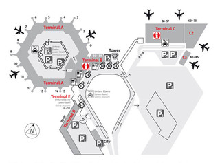 Map of Berlin Tegel airport & terminal (TXL)