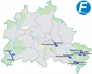 Map of Berlin ferry network