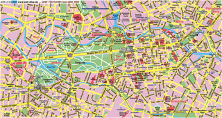 Tourist map of Berlin attractions, sightseeing, museums, sites, sights, monuments and landmarks