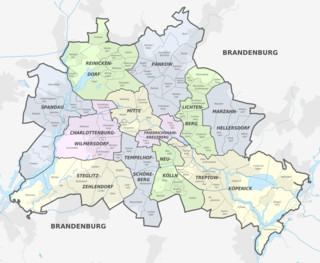 Maps of Berlin neighborhoods, districts, boroughs & areas