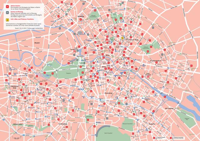 Subway Map Bike.Map Of Berlin Bike Paths Bike Routes Bike Stations