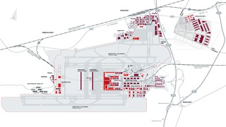 Map of Berlin Brandenburg airport & terminal (BER)