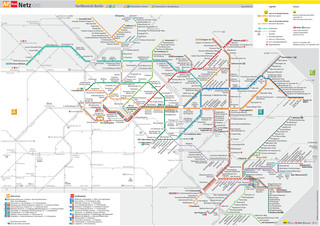 Map of Berlin tram network