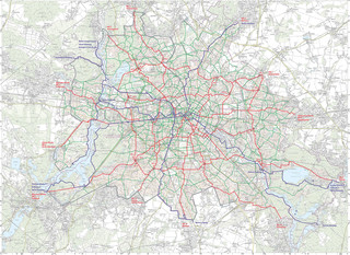 Cycle routes, cycle paths, cycle lanes of Berlin
